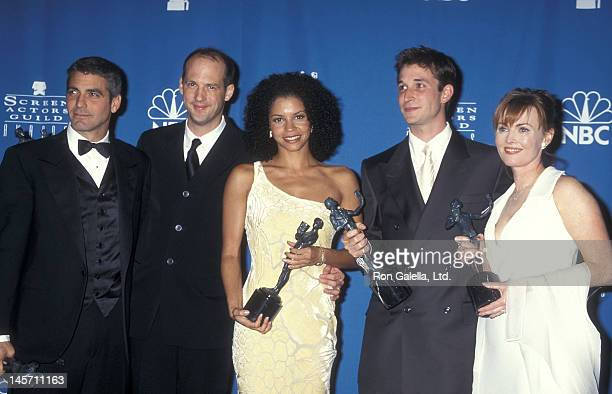 Actor George Clooney actor Anthony Edwards actress Gloria Reuben actor Noah Wyle and actress Laura Innes attend the Third Annual Screen Actors Guild...