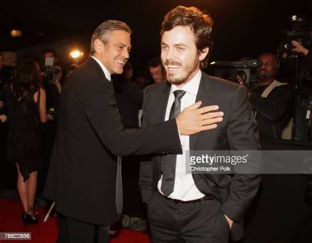 Actor George Clooney and Actor Casey Affleck arrives at the 13th ANNUAL CRITICS' CHOICE AWARDS at the Santa Monica Civic Auditorium on January 7,...