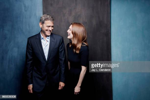 Actor George Clooney and actress Julianne Moore from the film 'Suburbicon' poses for a portrait at the 2017 Toronto International Film Festival for...