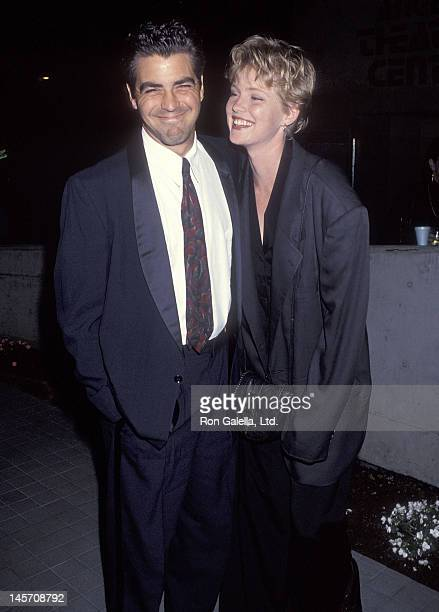 Actor George Clooney and actress Tracey Needham attend the Latino Classical Repertory's First Annual Benefit Gala on May 3 1993 at the Los Angeles...
