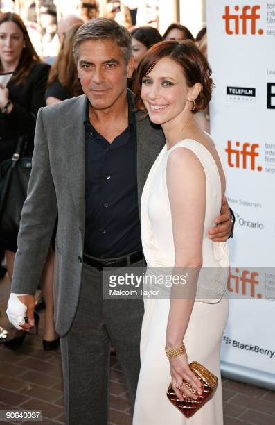 Actor George Clooney and actress Vera Farmiga arrive at the Up In The Air screening during the 2009 Toronto International Film Festival held at the...