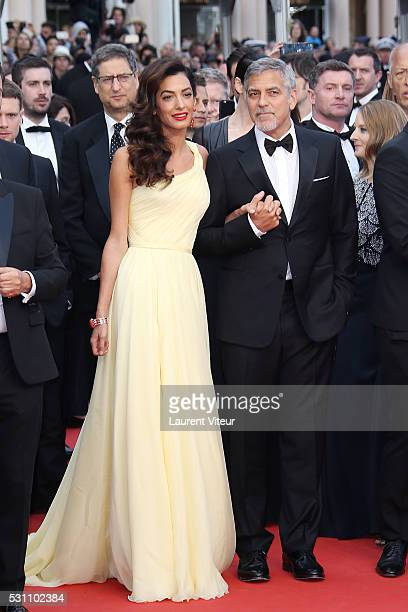 Actor George Clooney and Amal Clooney attend the 'Money Monster' premiere during the 69th annual Cannes Film Festival at the Palais des Festivals on...