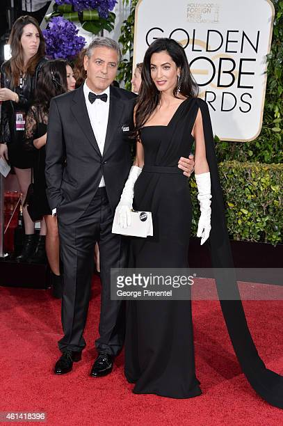 Actor George Clooney and attorney Amal Alamuddin Clooney attend the 72nd Annual Golden Globe Awards at The Beverly Hilton Hotel on January 11 2015 in...
