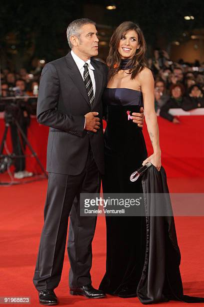 Actor George Clooney and Elisabetta Canalis attend the 'Up In The Air' Premiere during Day 3 of the 4th International Rome Film Festival held at the...