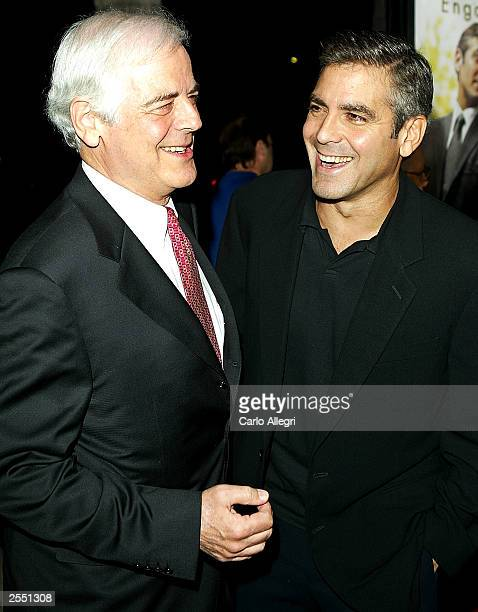 Actor George Clooney and father Nick Clooney arrive for the world premiere of the film 'Intolerable Cruelty' September 30 2003 in Beverly Hills...
