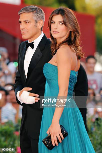 Actor George Clooney and his girlfriend Elisabetta Canalis attend 'The Men Who Stare At Goats' premiere at the Sala Grande during the 66th Venice...