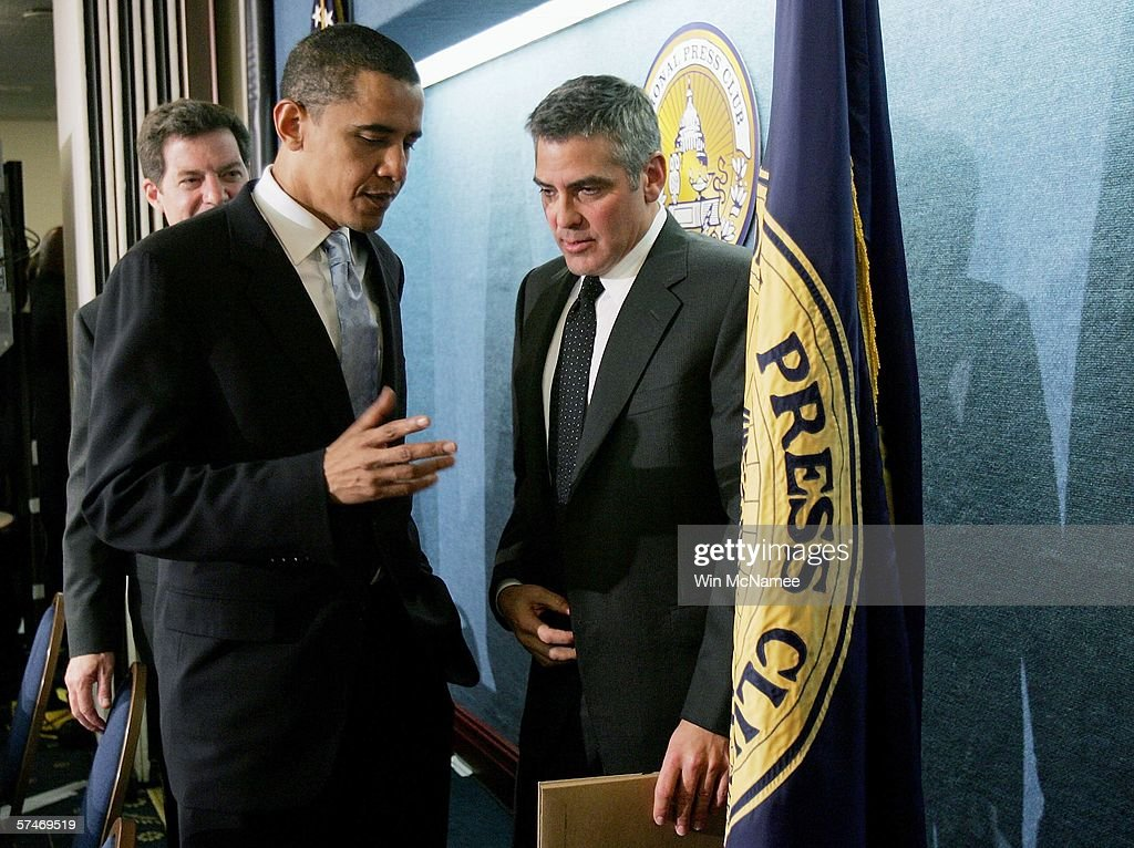 George Clooney Addresses National Press Club On Darfur : Nieuwsfoto's