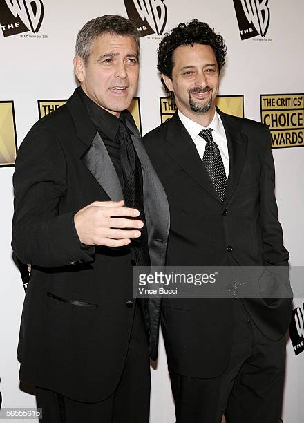 Actor George Clooney and wirter Grant Heslov arrive at the 11th Annual Critics' Choice Awards held at the Santa Monica Civic Auditorium on January 9,...