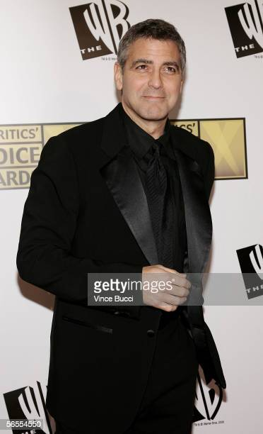 Actor George Clooney arrives at the 11th Annual Critics' Choice Awards held at the Santa Monica Civic Auditorium on January 9, 2006 in Santa Monica,...