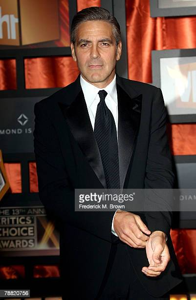 Actor George Clooney arrives at the 13th annual Critics' Choice Awards held at the Santa Monica Civic Auditorium on January 7 2008 in Santa Monica...
