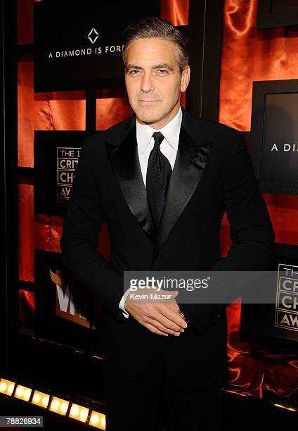 Actor George Clooney arrives at the 13th ANNUAL CRITICS' CHOICE AWARDS at the Santa Monica Civic Auditorium on January 7, 2008 in Santa Monica,...