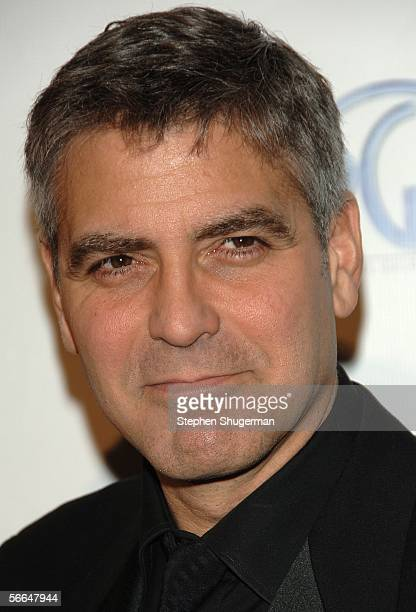 Actor George Clooney arrives at the 2006 Producers Guild awards held at the Universal Hilton on January 22 2006 in Universal City California