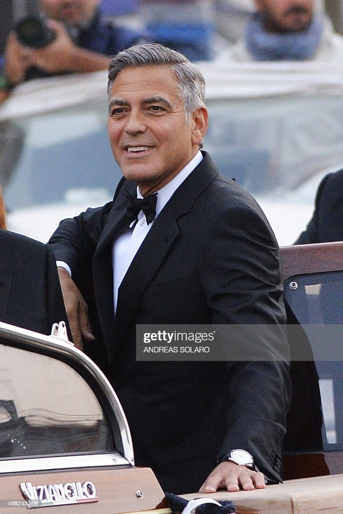 ITALY-US-BRITAIN-PEOPLE-WEDDING-CLOONEY : News Photo
