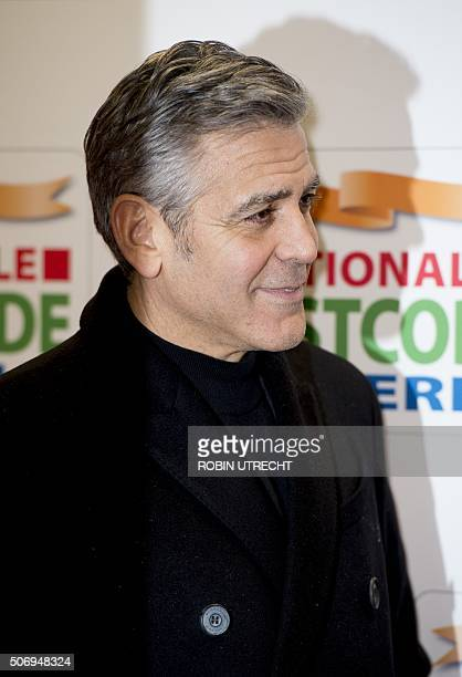US actor George Clooney arrives at the Goed Geld Gala charity event at the Carre Theatre in Amsterdam on January 26 2016 OUT == / AFP / ANP / robin...