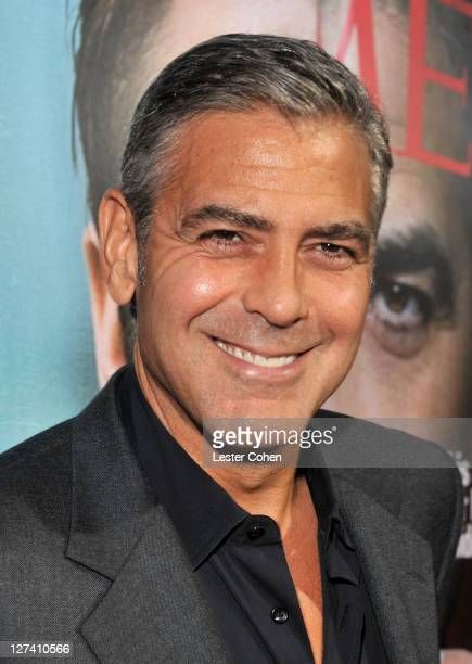 Actor George Clooney arrives at the 'Ides Of March' Los Angeles Premiere held at AMPAS Samuel Goldwyn Theater on September 27 2011 in Beverly Hills...