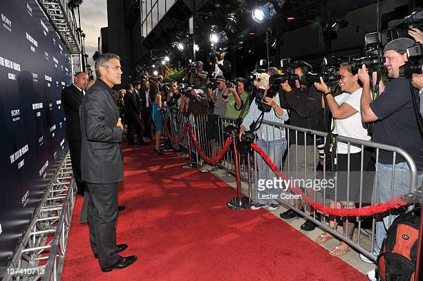 """Actor George Clooney arrives at the """"Ides Of March"""" Los Angeles Premiere held at AMPAS Samuel Goldwyn Theater on September 27, 2011 in Beverly Hills,..."""