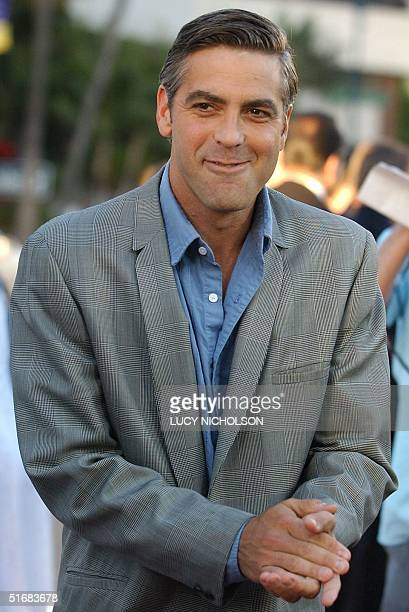 US actor George Clooney arrives at the premiere of the film Full Frontal in Beverly Hills CA 23 July 2002 The film is directed by Steven Soderbergh...