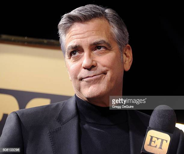 Actor George Clooney arrives at the premiere of Universal Pictures' Hail Caesar at Regency Village Theatre on February 1 2016 in Westwood California