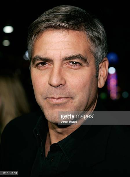 Actor George Clooney arrives at the premiere of Warner Bros The Good German held at The Egyptian theatre on December 4 2006 in Hollywood California