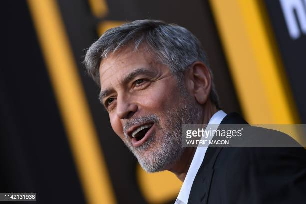 US actor George Clooney arrives to the premiere of Catch22 at the TCL Chinese Theatre in Hollywood California on May 7 2019