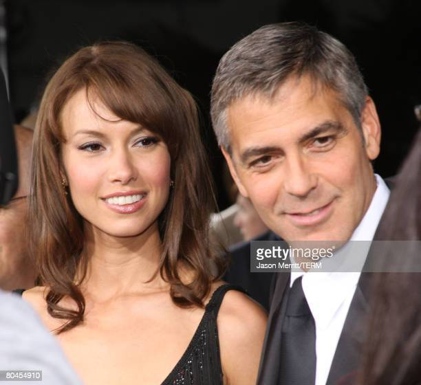 Actor George Clooney arrives with girlfriend Sarah Larson at Universal Picture's Premiere of Leatherheads on March 31 2008 at Grauman's Chinese in...