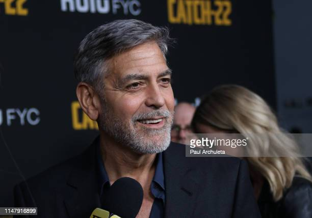 Actor George Clooney attend the FYC screening of Hulu's Catch22 at the Saban Media Center on May 08 2019 in North Hollywood California