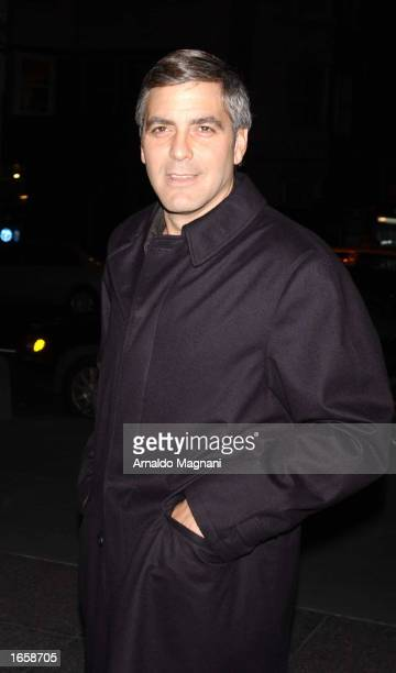 Actor George Clooney attends a screening of 'Confessions of a Dangerous Mind' at the MGM building November 24 2002 in New York City