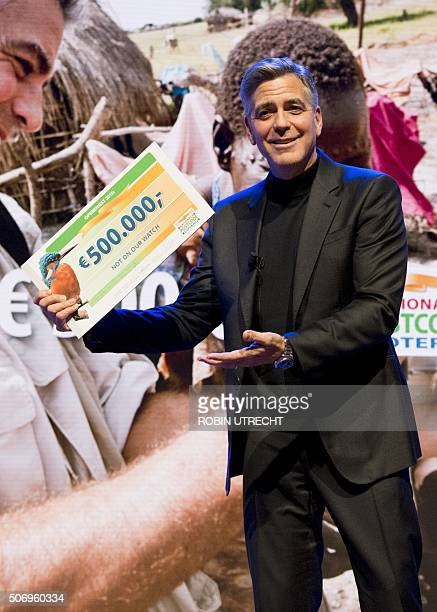 US actor George Clooney attends the Goed Geld Gala charity event at the Carre Theatre in Amsterdam on January 26 2016 OUT == / AFP / ANP / Robin...