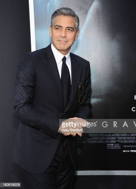 Actor George Clooney attends the Gravity premiere at AMC Lincoln Square Theater on October 1 2013 in New York City