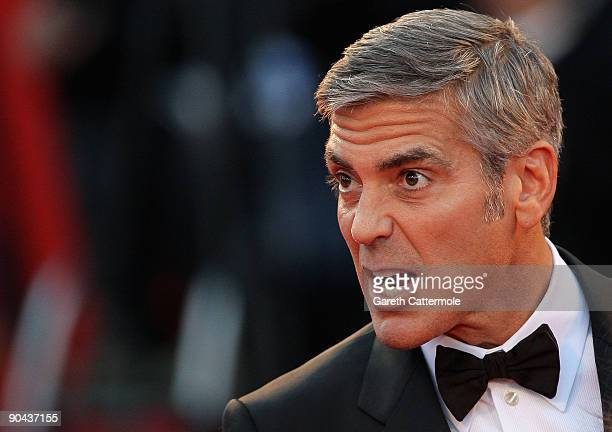 Actor George Clooney attends 'The Men Who Stare At Goats' premiere at the Sala Grande during the 66th Venice Film Festival on September 8 2009 in...