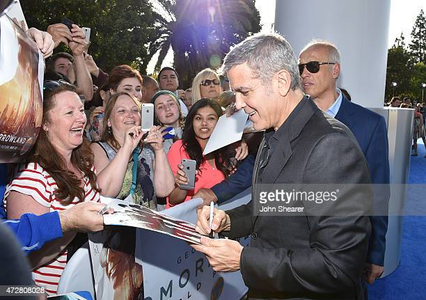 Actor George Clooney attends the premiere of Disney's Tomorrowland at AMC Downtown Disney 12 Theater on May 9 2015 in Anaheim California