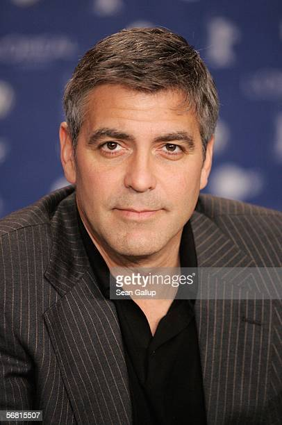 """Actor George Clooney attends the press conferencel for """"Syriana"""" as part of the 56th Berlin International Film Festival on February 10, 2006 in..."""