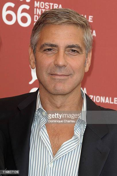 Actor George Clooney attends the The Men Who Stare At Goats photocall at the Palazzo del Casino during the 66th Venice Film Festival on September 8...