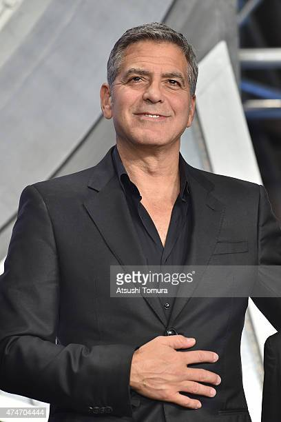 Actor George Clooney attends the Tokyo premiere of Tomorrowland at Roppongi Hills on May 25 2015 in Tokyo Japan