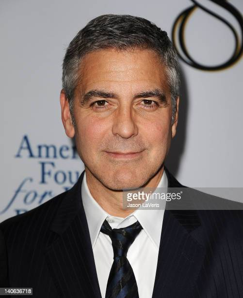 Actor George Clooney attends the west coast premiere of '8' at The Wilshire Ebell Theatre on March 3 2012 in Los Angeles California