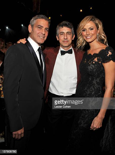 Actor George Clooney Director Alexander Payne and actress Stacy Keibler attend The 18th Annual Screen Actors Guild Awards broadcast on TNT/TBS at The...