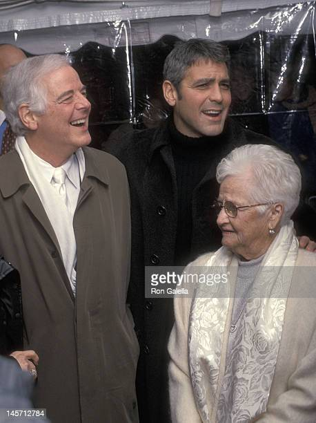 Actor George Clooney father Nick Clooney and grandmother Dica Warren attend the O Brother Where Art Thou New York City Premiere on December 19 2000...