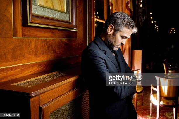Actor George Clooney poses for a portrait shoot for Paris Match during the Deauville film festival on September 2 2007