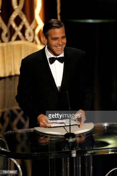 TELECAST*** Actor George Clooney presents the award for Best Supporting Actress during the 79th Annual Academy Awards at the Kodak Theatre on...