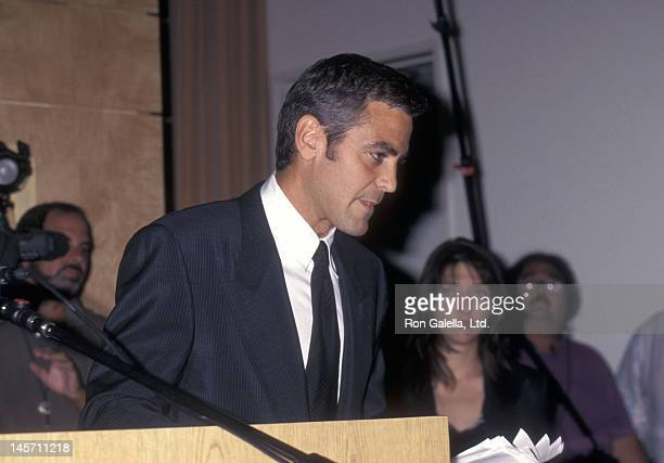 Actor George Clooney speaks out against the paparazzi and tabloids after Princess Diana's death on September 2 1997 in Los Angeles California