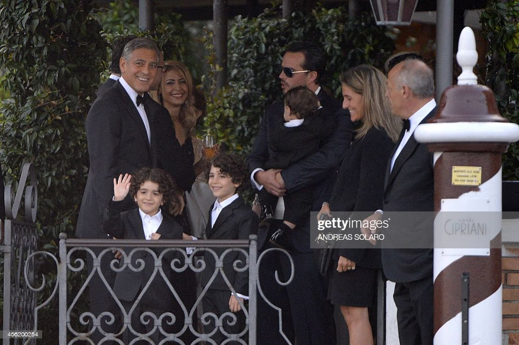 Us Actor George Clooney Speaks With Guests Before To Leave The News Photo Getty Images