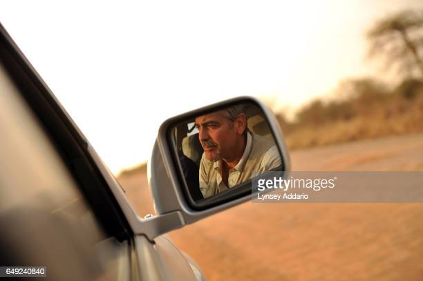 Actor George Clooney visits Sudan in anticipation of the referendum to separate North and South Sudan near Abyei Southern Sudan Jan 7 2011 Clooney...