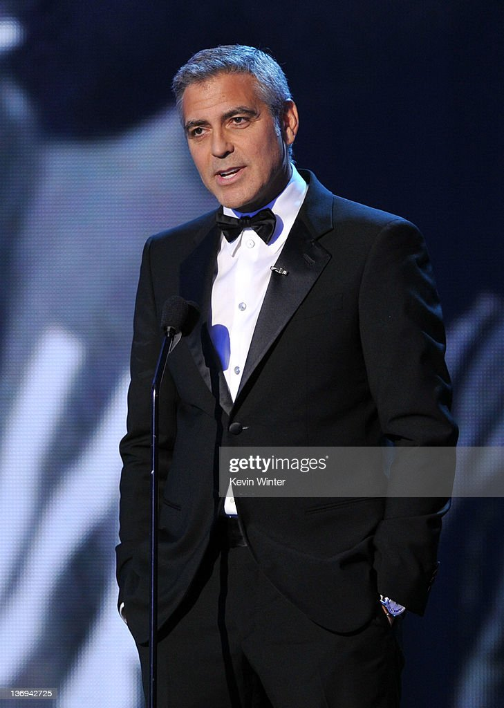 Actor George Clooney/director George Clooney speaks onstage during the 17th Annual Critics' Choice Movie Awards held at The Hollywood Palladium on January 12, 2012 in Los Angeles, California.
