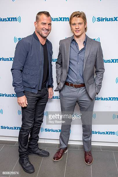 Actor George Eads and Lucas Till Visit SiriusXM at SiriusXM Studio on September 8 2016 in New York City