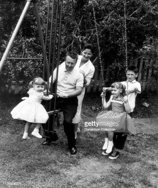 Actor George Gobel with his wife Alice Gobel and their children Gregg Gobel Georgia Gobel and Leslie Gobel in 1956