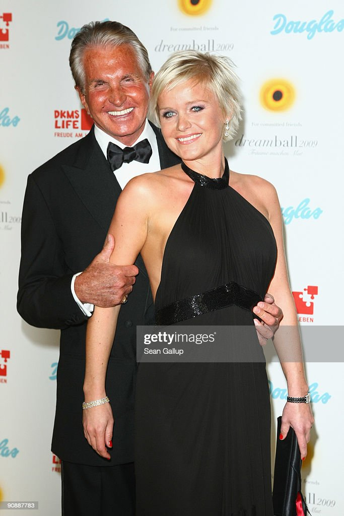 Actor George Hamilton and Barbara Sturm attend the dreamball 2009 charity gala at the Ritz-Carlton on September 17, 2009 in Berlin, Germany.