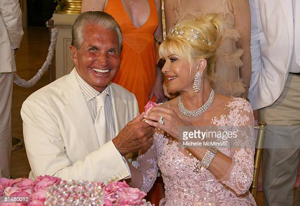 RATES Actor George Hamilton and Ivana Trump during the wedding reception of Ivana Trump and Rossano Rubicondi at the MaraLago Club on April 12 2008...