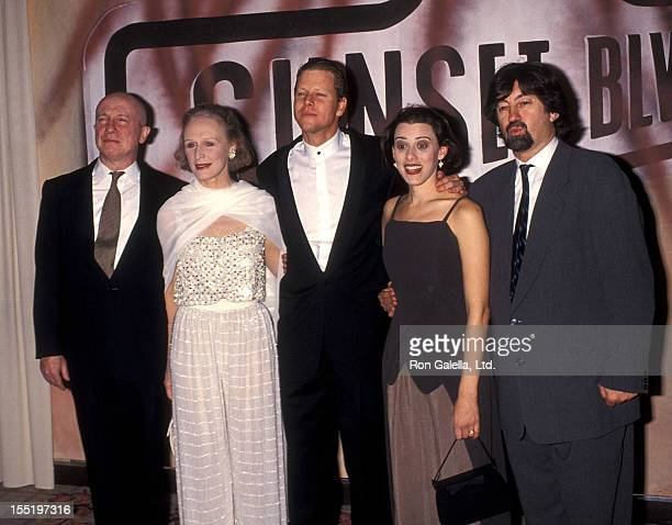 Actor George Hearn actress Glenn Close actor Alan Campbell and actress Judy Kuhn attend the 'A Night to Fight Diabetes' Benefit Preview Performance...