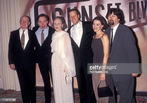 "Actor George Hearn, theater director Andrew Lloyd Webber, actress Glenn Close, actor Alan Campbell and actress Judy Kuhn attend the ""A Night to Fight..."