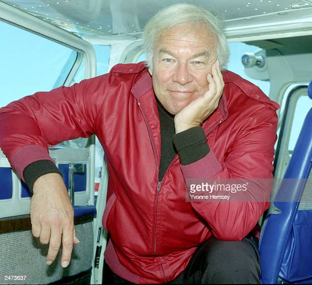 Actor George Kennedy poses for a portrait at Teterboro Airport June 30 1983 in New Jersey Kennedy is also a pilot